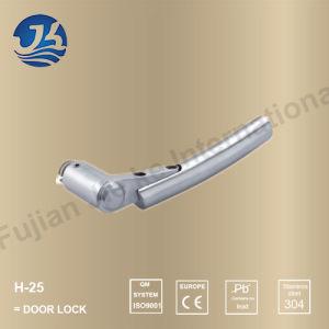 Stainless Steel 304 Simple Design Door Handle Lock (H-25)