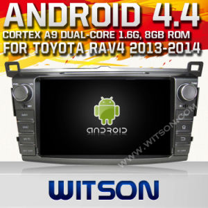 Witson Android 4.4 System Car DVD for Toyota RAV4 2014 (W2-A7017) 1080P HD Video 1.6GHz Frequency DVR 3D Map pictures & photos