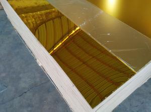 3mm Golden Mirror Acrylic Sheet Plastic Plexiglass Mirror Sheet pictures & photos