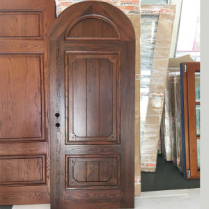 American Design Solid Red Oak Wood Interior Door Round-Top Designed pictures & photos