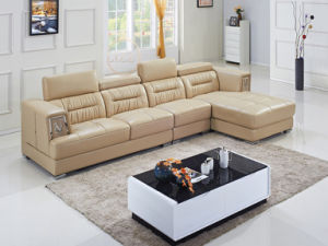 Top Grain Living Room Leather Sofa with Corner L. P2810 pictures & photos
