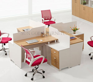 Commercial Crossing Office Desk Modern Circle 4 Person Workstation (SZ-WS913) pictures & photos