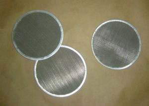 304 Stainless Steel 100 150 Micron Rimmed Fine Mesh Screen Filter Disc pictures & photos