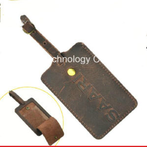 Office Workers Genuine Leather Luggage Tag