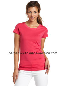 Custom Womens Blank Cotton T-Shirt with Cheap Price pictures & photos