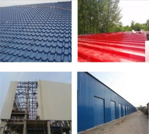 Pre- Painted Corrugated Steel Roof Sheet for Modern Villa pictures & photos