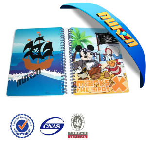 Plastic Printed Spiral 3D Notebook Cover pictures & photos