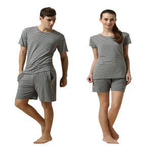 Environmental Soft Fabric Lovers Striped Pajamas pictures & photos