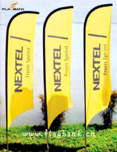2.8m Outdoor Customized Digital Printing Feather Flag/Beach Flag pictures & photos