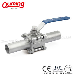 3 Piece Non-Standard Lengthen Butt Welding Stainless Steel Ball Valve pictures & photos