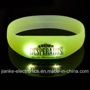 Promotional Motion Sensor LED Blinking Wristband with Logo Print (4010)