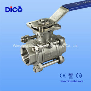 3PC High Mounting Pad Ball Valve & Threaded Ball Valve (3GQ11F) pictures & photos