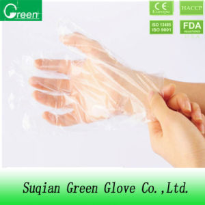 Clear Disposable Polythene Protective Gloves pictures & photos