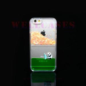 Star Quicksand Oil Liquid Panda Cell Phone Case for iPhone5/6/6plus