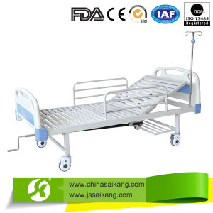 ABS Manual Hospital Bed with Silent Casters pictures & photos