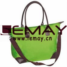Eco-Friendly Jute Beach Tote Bag - Features Leather Trim, Shoulder-Length Stuffed Leather Handles and Comes with pictures & photos