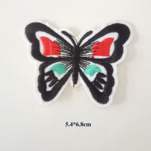 Beautiful Custom Design Butterfly Shaped Embroidery Badge Patch Embroidered Iron on Design Sublimation Applique Patch pictures & photos