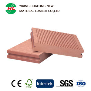 Wood Plastic Composite Solid Decking for Outdoor (HLM38) pictures & photos