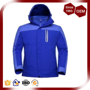 Men Functional Waterproof Tape-Seamed Outdoor Three-in-One Jacket pictures & photos