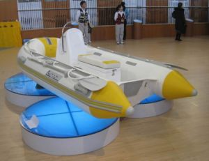 Hot-Selling 4.2m Yellow and White Inflatable Rib Boat pictures & photos