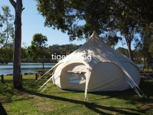 Large Glamping Tent for Family Cotton Canvas Lutos Belle Tent