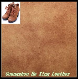 High Quality Nubuck PU Leather for Footwear, Shoes, Sandal pictures & photos
