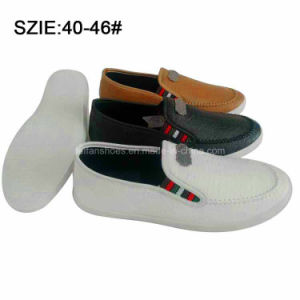 New Style Fashion Men′s Slip on Suture PU Shoes (MP16721-23) pictures & photos