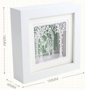 Square White Solid Wood Photo Frames pictures & photos
