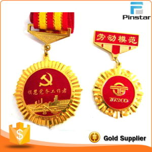 High Quality Offiicial Gold Plated Soft Enamel Medal Badge pictures & photos
