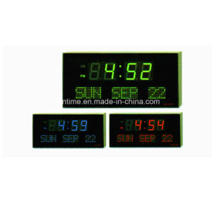Electric LED Digital Wall Decorative Calendar Clock pictures & photos