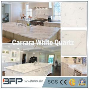 Carrara White Artificial Quartz Slabs for Tiles and Countertops pictures & photos