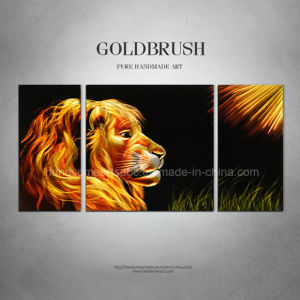 Lion Metal Painting, 3D Effect with 100% Handmade pictures & photos