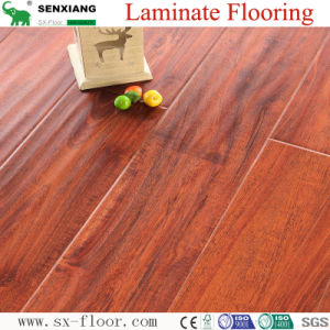 12mm HDF Concave & Convex Surface Smooth Handscraped Laminate Flooring