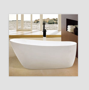 Kbis Cupc Acrylic Thin Edge Trim Free Standing Bathtub pictures & photos