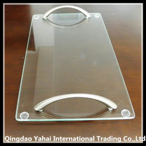 Square Clear Tempered Glass Cutting Board with Handle pictures & photos