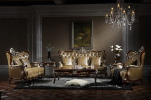 Classical Wooden Livingroom Furniture-Lf-a Sofa Set