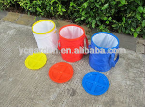 Black Red Yello Blue Colorful Collapsible Pet Food Bin with Reach FDA Certificate
