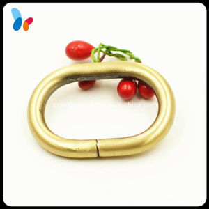 Plating Golden Alloy Metal Oval Ring Buckle pictures & photos