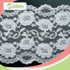 Wholesale Lovely White Elastic Stretch Lace pictures & photos