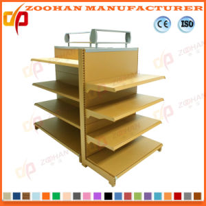 Popular Gondola Double Sides Supermarekt Shelf with Light Box (ZHs647) pictures & photos