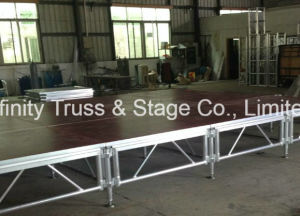 4X4FT 60cm-1m High Aluminum Mobile Stage Event Stage for Concert Arena pictures & photos