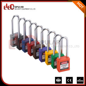 Promotional Item Long Shackle Plastic Type of Rectangular Safety Padlock pictures & photos