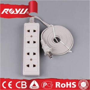 Quadruple Universal Extension Cord with 3 Meter Wire pictures & photos