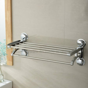 chromed plated suction cup wall bracket towel shelf with heavy duty