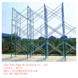 1700X1250mm Walk Through Galvanized Frame Gantry Scaffolding pictures & photos