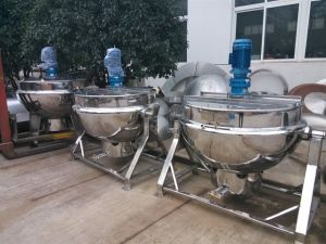 Vertical Type Gas Heating Jacketed Kettle pictures & photos