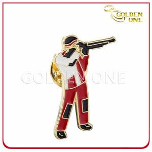 Gold Finish Debossed Logo Soft Enamel Metal Emblem pictures & photos