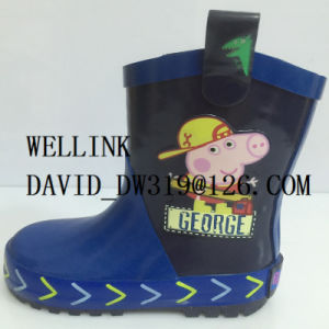 Peppa Pig Cartoon Child Rubber Rainboots pictures & photos