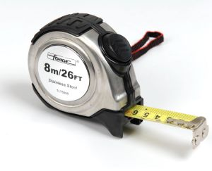 Measuring Tape Measure S/S Metal Case Nylon Coated Forgemax OEM pictures & photos