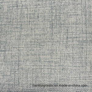 Cloth Pattern PVC Synthetic Leather for Sofa Furniture with Print pictures & photos